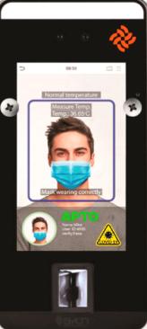 Control de accesos y presencia con control de mascarilla y temperatura