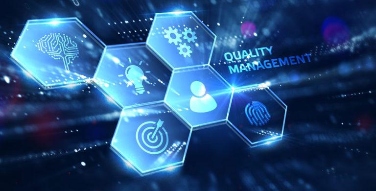 Iconos que representan la calidad en la empresa, de la que se ocupa el director de calidad