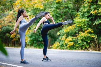 Women,Exercise,Happily,For,Good,Health.,Exercise,Concept